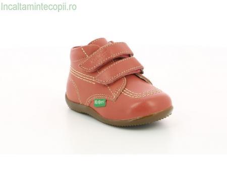 Kickers-Ghete piele roz copii Bikro 742120-10
