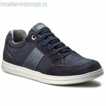 GEOX-Sneakers bleumarin copii -fermoar lateralGeox J723HB