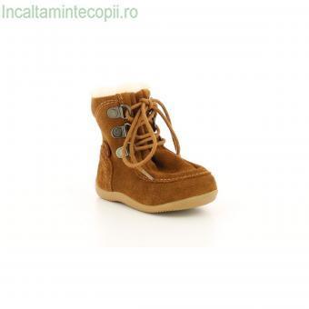 Kickers-Cizme camel fetite Bamara 571933